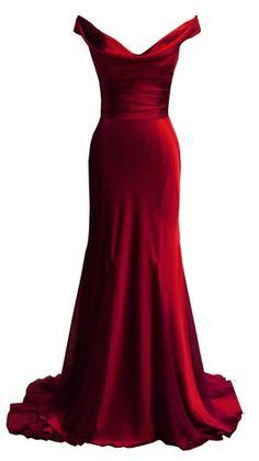 Even better in red! It's like Scarlett O'Hara's dress modernized! Gemma by DINA BAR-EL @girlmeetsdress