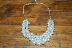 White beads necklace jewelry handmade