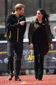 Harry and Meghan arrive to meet participants the University of Bath Sports Training Villag...