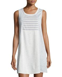 Terry+Cloth+Speckled+Dress,+Gray/White/Combo+by+Max+Studio+Weekend+at+Neiman+Marcus+Last+Call.