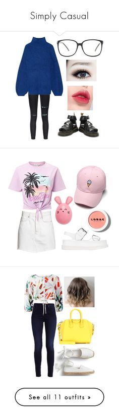"""""""Simply Casual"""" by nanamochi ❤ liked on Polyvore featuring By Malene Birger, Dr. Martens, Laneige, Miss Selfridge, STELLA McCARTNEY, LORAC, Mara Hoffman, Givenchy, Levi's and Converse"""
