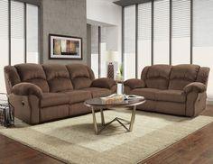 2 Pc Affordable Furniture Aspen Chocolate Reclining Sofa Loveseat Set 1000 Inv