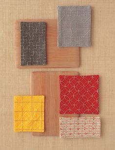 Assortment of sashiko embroidery #1. No clue from where.