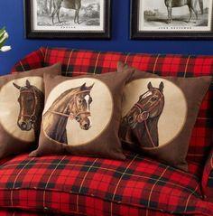 16 Best Equestrian Chic Interiors – fancydecors – Art Of Equitation Equestrian Chic, Equestrian Outfits, Equestrian Fashion, Tartan, Plaid, Horse Riding, Country Decor, Decoration, Pillows