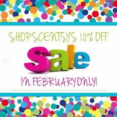Everybody loves a sale!!!!!  10% off in February.  www.jennpenn1.scentsy.us