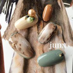 #nail #nails #nailart #nailspacejunx #junx #ネイル#リーフジェル #秋ネイル #leafgel#小野市ネイルサロン #佐藤淳子