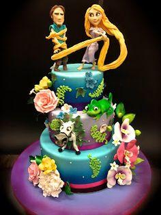 Este es el cake de Rapunzel más divertido que he visto!