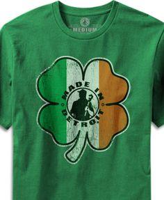 Made In Detroit -Shamrock - Kelly Green T-Shirt