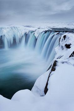 Wintry Godafoss, Iceland