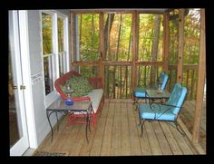 small screened porch