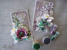 Mary's Crafty Moments: Spring Cards - DT Layout for Maja Design March Ins...