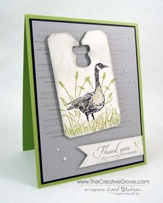 Stampin' Up! Wetlands and Gorgeous Grunge Stamp Sets with the new Chalk Talk Framelits.  For creative tips and more photos www.thecreativegrove.com