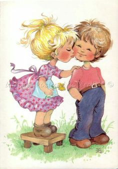 Zsuzsa Fuzesi Illustrations, Illustration Art, Precious Moments, Love Art, Cute Kids, Cute Pictures, Boy Or Girl, Whimsical, In This Moment