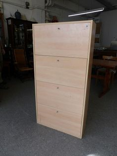 Shoe Cupboard With Four Shelving Racks In The RGF Showroom ---- H - 132cm W - 66cm D - 25.5cm Good Condition £10 (PC786)