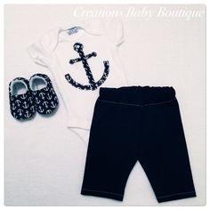 Baby junge Sommer Outfit jungen Babykleidung von CreationsBabyB