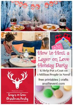 Are you planning a holiday party? My #LayerOnLove party is fun, festive and gives back by helping provide warm coats for people in need. Check out the food, crafts and how you can give back to the community. #ad