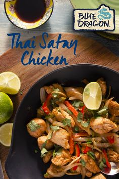 Try new Blue Dragon Thai Satay Chicken - authentic and delicious with no artificial flavours or colours! Wok, Moist Pumpkin Bread, Confort Food, Artisan Pizza, Chicken Satay, Food Goals, Easy Meal Prep, Just Cooking, Easy Salads