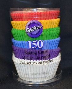 Rainbow Cupcake Liners by Wilton Primary Colors 150 Count