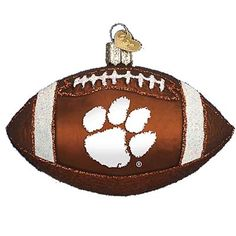 Clemson Tigers Football Christmas Ornament Introduced 2010 61200 Merck Family Old World Christmas Clemson University - Tigers Clemson Football ornament measures approximately
