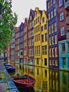 I have always wanted to go to Amsterdam, I mean how cute does these buildings look!!