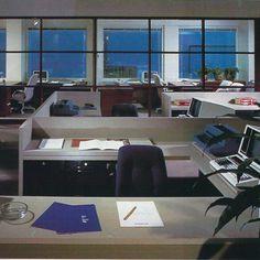 Offices at The Boston Globe, Boston, USA, 1988