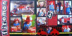 Multi-photo Scrapbooking Layouts Gallery-Fireman
