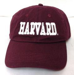 Low-Profile-Crown HARVARD UNIVERSITY CRIMSON HAT Dark-Maroon&White Men/Women NEW #Harriton #BaseballCap
