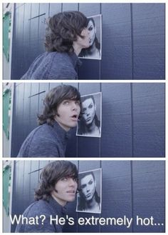 Onision kissing a BLACK VEIL BRIDES poster of Andy Beirsack... he is... hot... though...