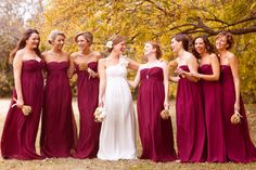 I actually really like these brides maids dresses - the cut, the colour etc - everyone looks just stunning in them!