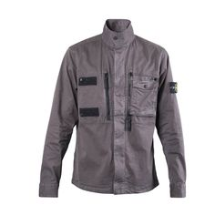 Stone Island Overshirt w/ Detachable Chest Pockets (Military Green)
