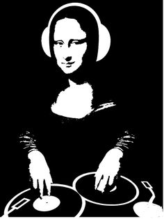 MikeLiveira's Space: Mona Lisa From Alternate Universe 8 Arte Pop, The Darkness, Tableau Pop Art, Mona Lisa Parody, Tatoo Art, Dj Music, House Music, Vinyl Art, Electronic Music