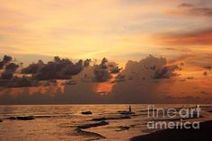 Fishing At Sunset by Mesa Teresita