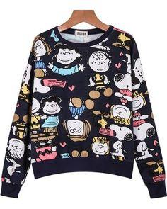 Suéter estampa desenho Peanuts de algodão
