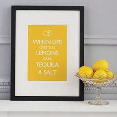 When life gives you lemons.... From Catherine Colebrook, Not on the High Street. :) #prints