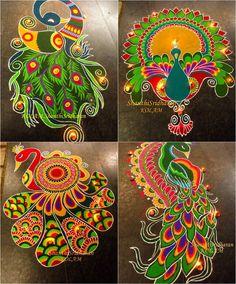 Rangoli Designs Latest, Simple Rangoli Designs Images, Rangoli Designs Flower, Rangoli Border Designs, Colorful Rangoli Designs, Rangoli Designs Diwali, Beautiful Rangoli Designs, Rangoli Borders, Rangoli Patterns