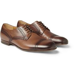 GucciBurnished-Leather Brogues