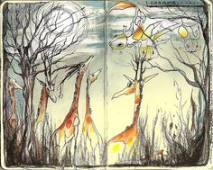 Giraffe Sketch.