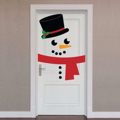 Door Wrap: Snowman X-Large Holiday Removable Wall Decals image 0 Christmas Activities, Christmas Crafts For Kids, Christmas Projects, Simple Christmas, Holiday Crafts, Diy Christmas Door Decorations, Christmas Classroom Door, Christmas Ornaments, Christmas Snowman