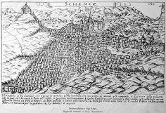 old depiction of Banská Štiavnica (Selmecbánya, Schemnitz).. ...looks like some sort of a Middle-eastern settlement
