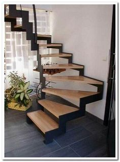 Platzsparende offene Treppe - Treppe ideen - The Effective Pictures We Offer You About building Stairs A quality picture can tell you many things. You can find th Open Stairs, Metal Stairs, Loft Stairs, House Stairs, Outside Stairs, Stairs Window, Interior Stairs, Interior Design Living Room, Building Stairs