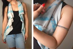 sharpie diy: Marker & Dye Jersey Vest