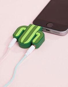 Image 1 of Mustard cactus audio splitter Phone Accesories, Tech Accessories, Cell Phone Accessories, Handy Gadgets, Geek Gadgets, Diy Coque, Batterie Portable, Accessoires Iphone, Audio