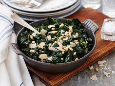 Parmesan, Lchf, Seaweed Salad, Palak Paneer, Vegan Recipes, Clean Eating, Good Food, Veggies, Ethnic Recipes