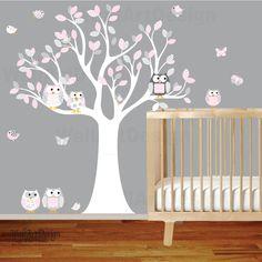 Nursery Wall Decal Vinyl Wall Decal Stickers Owl by wallartdesign, $99.00
