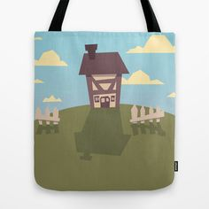 House on hill Tote Bag