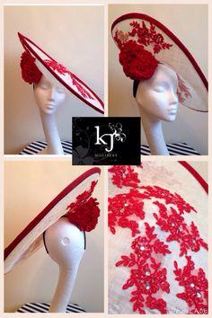 Custom headpiece #lace #kjmillinery #bespoke #hat #headpiece