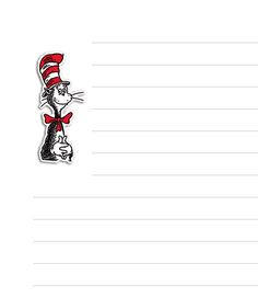 Cat in the Hat writing page