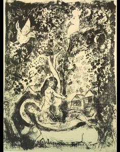 Branch and flute-player by @artistchagall #naïveart