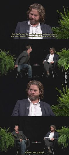 """Between Two Ferns"" with Zach Galifianakis and Brad Pitt!"