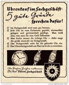 Original-Werbung / Anzeige 1938 -  UHREN - FACHGESCHÄFT - ca. 90 x 115 mm
